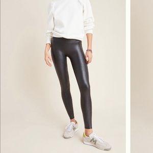 Spanx faux leather black leggings